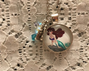 Little Mermaid/Ariel Charm Pendant Necklace/Disney Jewelry
