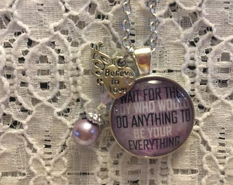 Wait for the Right Boy Charm Necklace/Abstinence Jewelry/Abstinence Necklace/Teen Girl Necklace/Teenager Necklace/Teenager Jewelry