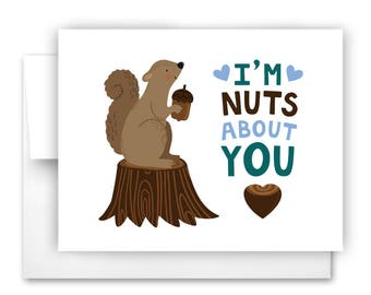 Nuts About You Notecard
