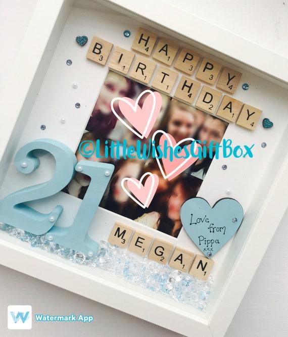 21st Birthday Personalised Photo / Box Frame / Photo Frame
