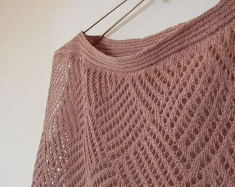 openwork knitted sweater,openwork sweater,Summer open-work sweater,Summer sweater cotton,hemp,Hemp top,Women summer top,Summer knitted top