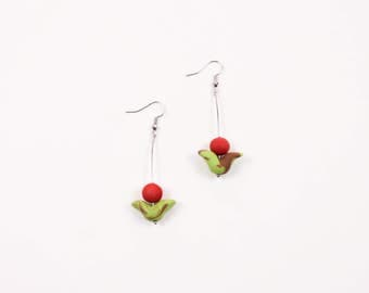 Rose Drop Earring