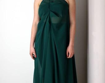 Green transparent dress