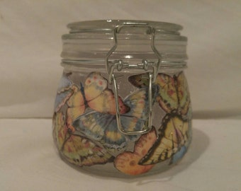 Butterfly Garden candle holder or storage container