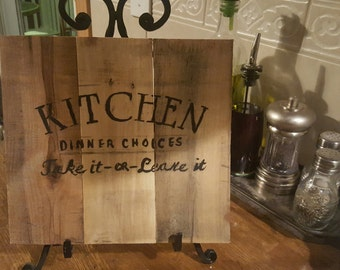 rustic kitchen sign 9 x 10