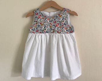 Girls Liberty tana lawn cotton dress / Baby Liberty tana lawn cotton dress