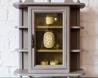 NOW SOLD*** Up-Cycled (Medium) Display Cabinet Hand Painted in French Linen Chalk Paint