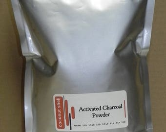 2 lb Activated Charcoal Powder - Ultra Fine - coconut shell - food grade - BUY2 get 1 lb FREE - tooth whitener , digestive cleanser
