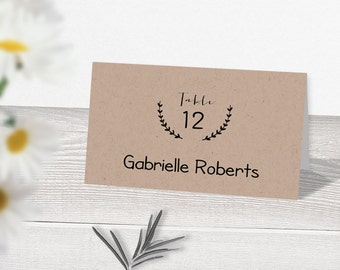 rustic place cards etsy