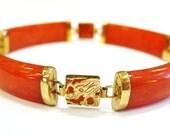 Red Jade 14K Bracelet...