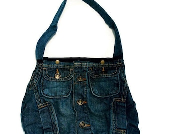 handmade recycled denim handbag and recycled original simple but classy / Recycled recycled denim handbag and original recycled