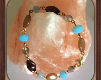 Bracelet round chain Rosary.