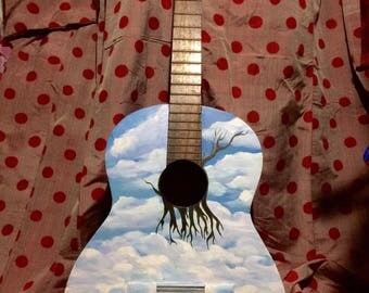 The sky's paint fork guitar