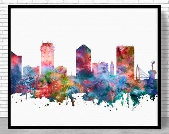 Wichita Skyline, Wichita Print, Wichita Kansas, Office Decor, City Skyline Prints, Skyline Art, Cityscape Art, Office Poster