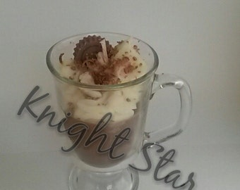 Hot Chocolate Candle in glass cup