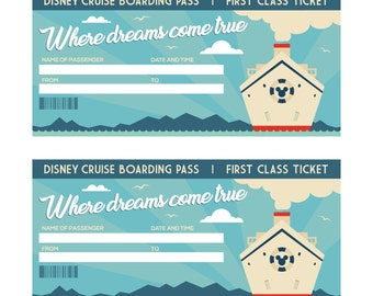 2 Printable Boarding Passes for Disney Cruise | You Fill & Print