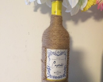 Cupcake Wine Bottle & Boquet