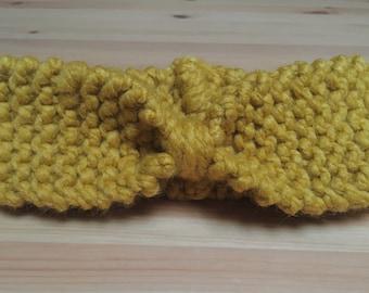 Mustard Yellow Chunky Knitted Cute and Cosy Headband