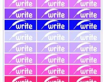 """Author Planner Stickers - Word Sheet """"Write"""""""