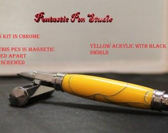 Hand turned Roller ball pen, Vertex kit