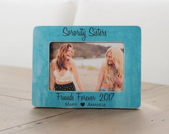 sorority picture frame personalized gift big sister little sister gift rush week best friend