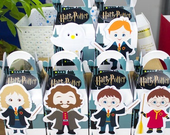 Harry potter favor bag, Harry potter favor box, Harry potter treat box, Harry potter Goody box, Harry potter party favor box Harry gift box