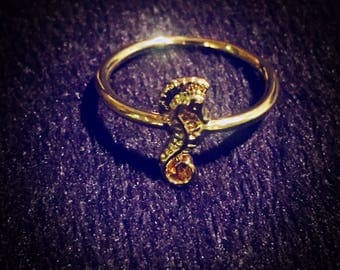 Gold Seahorse Fashion Ring Size 6 & FREE SHIPPING!!!
