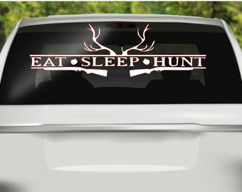Hunting Decal, Car Decal, Eat, Sleep Hunt Decal, Sports Decal, Hunting