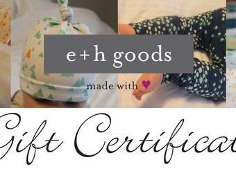 Gift Certificate - eandhgoods