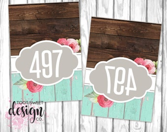 Piphany Mirrored Live Sale Tags, PIPHANY Hanger Numbers / Facebook Live Sales 1-500 normal and mirrored, Mirror Image Rustic Wood PRINTABLE