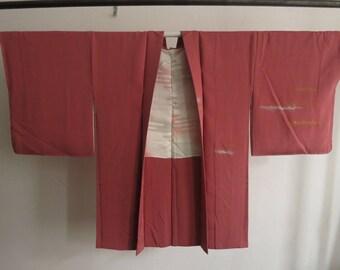 Haori kimono chirimen silk silk from Japan stitched vintage kimono
