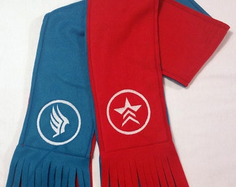 Mass Effect Paragon/Renegade Two-Tone Scarf