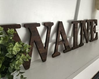 Wood Letters - Wooden Name - Custom Wood Letters - Custom Wood Name - Baby Name - Nursery Decor - Custom Nursery Decor - Family Name -