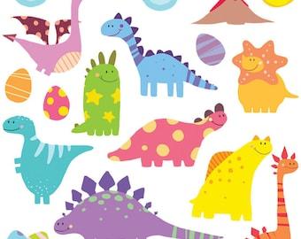 GET STICKING DÉCOR® Cute dinosaur wall stickers/ wall decals collection, dino8. (Medium)