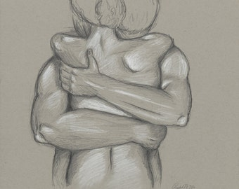 The Forgiving - pencil drawing