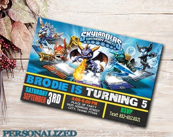 Skylanders Invitation, Skylanders Birthday, Skylanders Party, Birthday Invite, Skylanders, SuperChargers, Boy Birthday Party, Skylanders.
