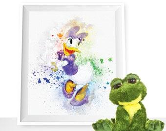 70%OFF Daisy Duck print, Daisy wall decor, Daisy printable, Disney Duck print, Daisy watercolor, Daisy art print, Daisy Disney printable