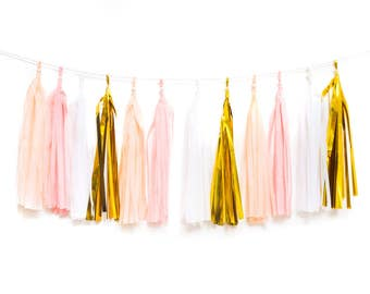 Blush Tassel Garland - Pretty Decoration for any party or room.