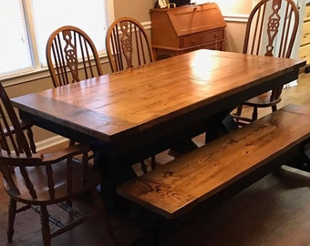 Farmhouse TableTrestle TableX TableRustic Dining Table Farm