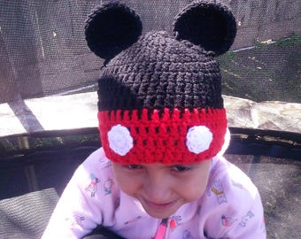 Mickey Mouse Inspired Hat/Beanie