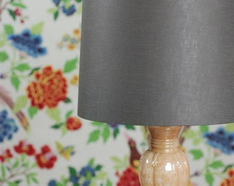 Lamp shade, Mink linen tapered drum