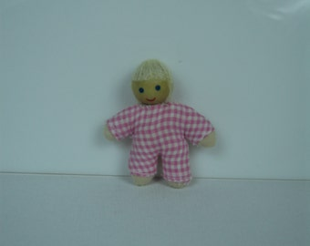 Miniature Baby Doll-Pink, Green or Blue