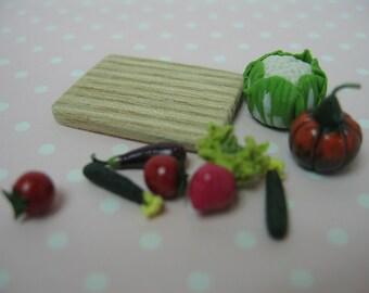 Miniature Vegetables board