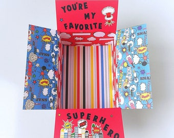Care Package Flaps, Military Care Package, Superhero Care Package Kit, 9 pc Set, Deluxe