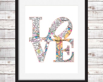 Philly Love Print Instant Download Digital Print Printable