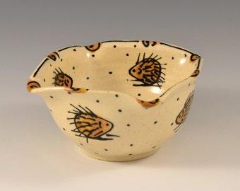 Hedgehog Small Square Bowl
