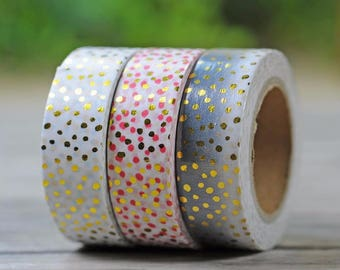 Metallic washi tape, adhesive tape, masking tape, bullet journal accessory, planner decoration, decorative tape, stationary, washi tape set
