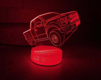 Monster Truck 3D Night Lamp, 3D Night Light Children Light Home Decor Illusion Romantic light