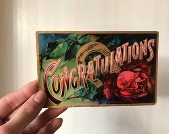 "Antique ""Congratulations"" Postcard"