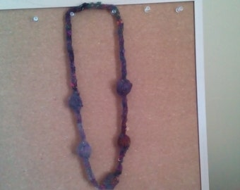 Knit Pearl Necklaces